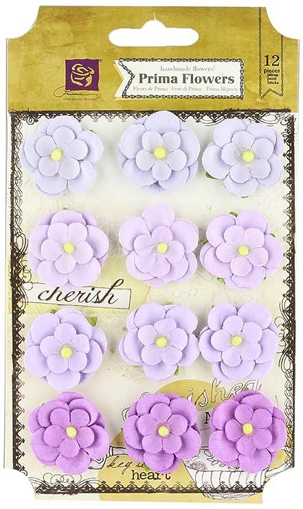 Amazon Prima Marketing Avante Paper Flowers 1 Inch Lilac 12 Pack
