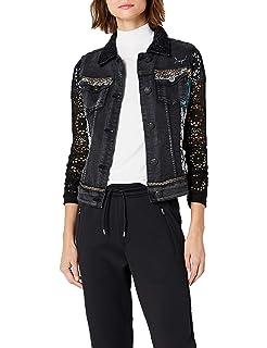 Desigual Womens Rachele Embroidered Detail Denim Jacket