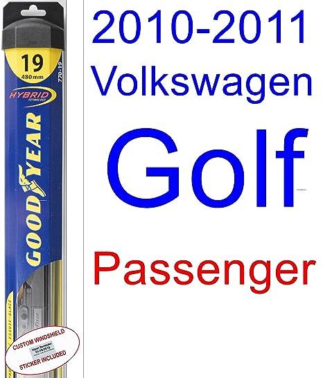Amazon.com: 2010-2011 Volkswagen Golf Wiper Blade (Passenger ...