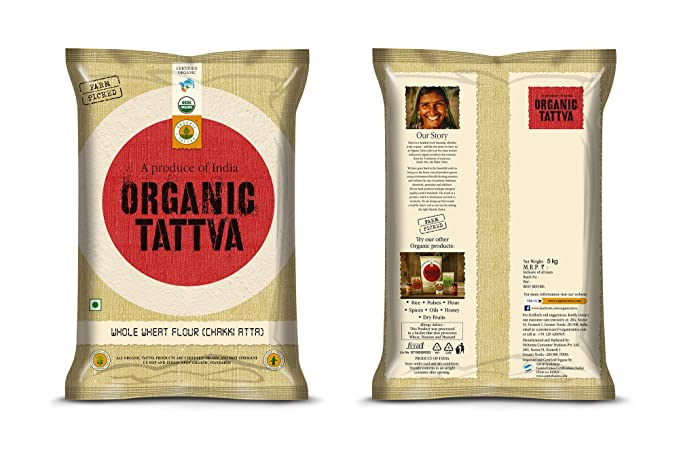 Organic Tattva Wheat Flour, 5kg