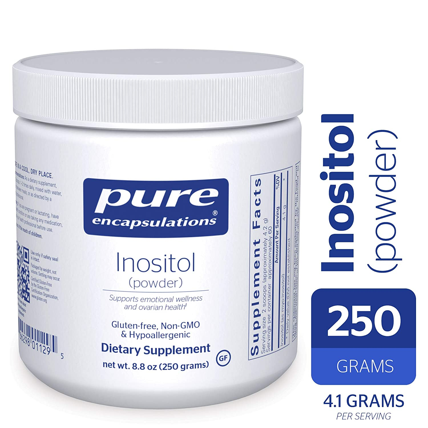 Pure Encapsulations - Inositol (Powder) - Hypoallergenic Supplement  Supports Healthy Mood,