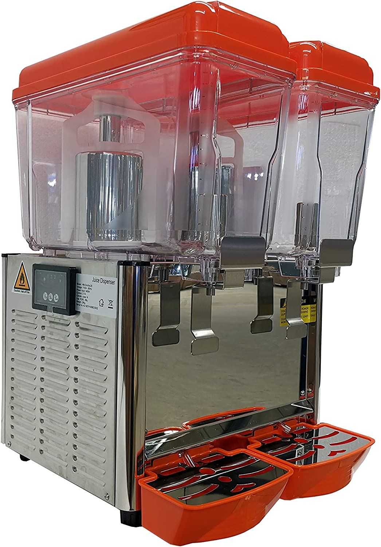 Hakka Commercial 2x12 Liter Bowl Refrigerated Beverage Dispenser