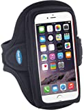 Armband for iPhone 7 6s 6 with slim case and Galaxy S7 S6 S5 with no case; Great for Running, Walking, Hiking, Gym Workouts & Exercise, Also fits iPhone 5 5s 5c SE with LifeProof Case [Black]