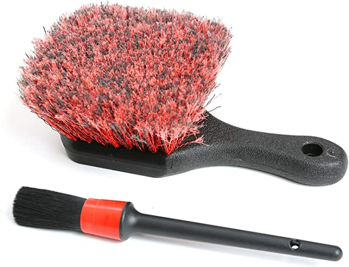 no Metal Parts Exposed tire Brush Wheel Brush one Spare Cleaning Cover + 1 Detail Brush 45cm Chenille Microfiber Edge Brush no Edge Scratch