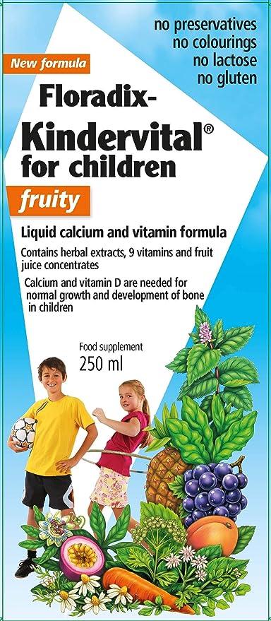 Salus Floradix Kindervital Fruity Vitaminas - 250 ml: Amazon.es ...