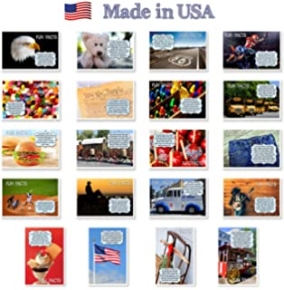Americana Fun Facts Postcard Set Of 20 Postcards Iconic America And American Culture Post Card
