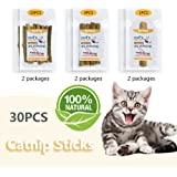 [2018 New Packaging] Cat Catnip Natural Matatabi Chew Sticks Teeth Grinding Chew Toys, Three specifications (M/L/XL) are suitable for kittens and cats.