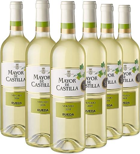 Mayor de Castilla Verdejo - Vino Blanco D.O Rueda, Pack de 6 Botellas x 750 ml: Amazon.es: Alimentación y bebidas