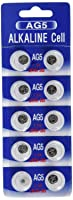 (10) AG5 393 LR754 SR754 Alkaline Battery Button Cell