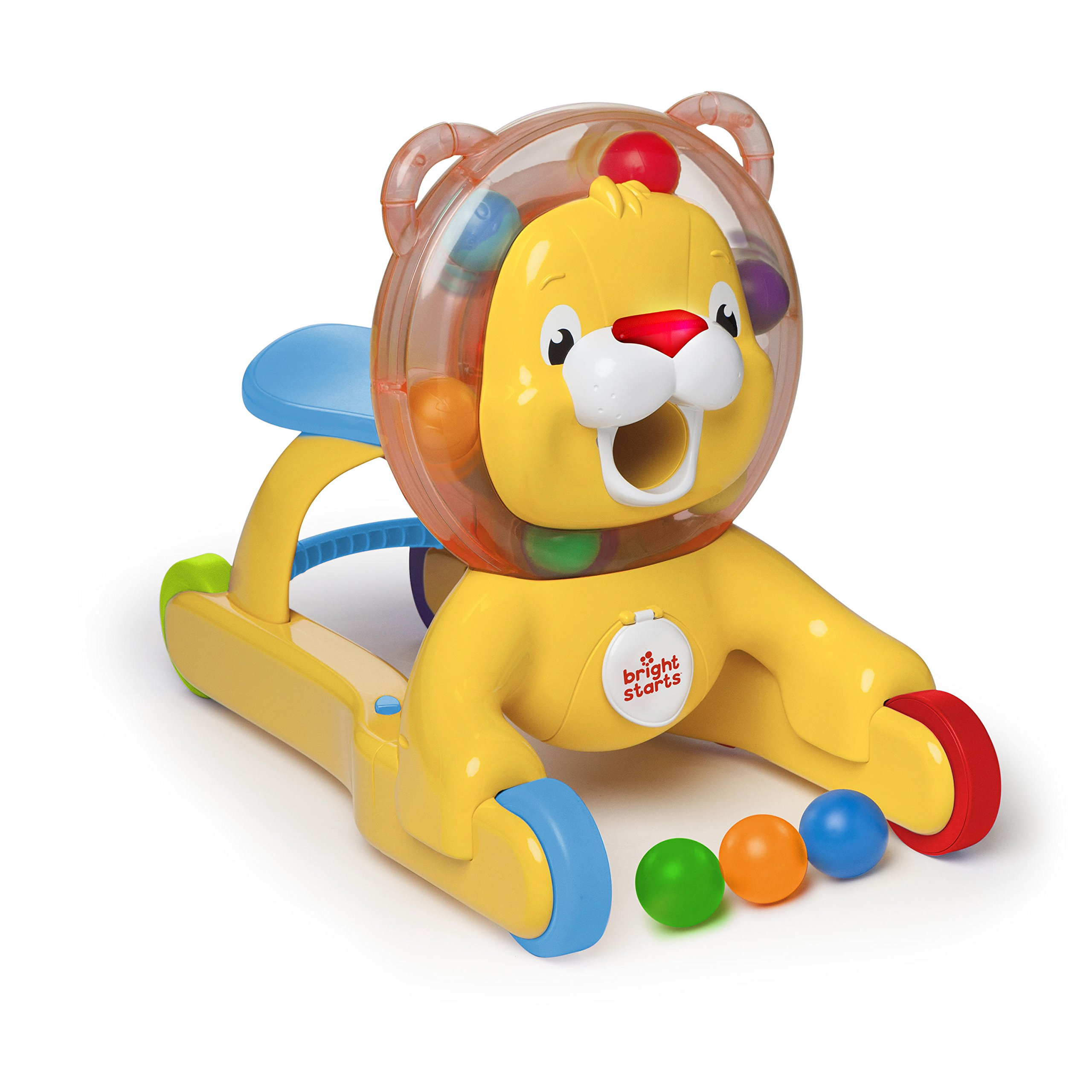 Bright Starts 3-in-1 Step 'n Ride Lion with Lights, Music and Sounds