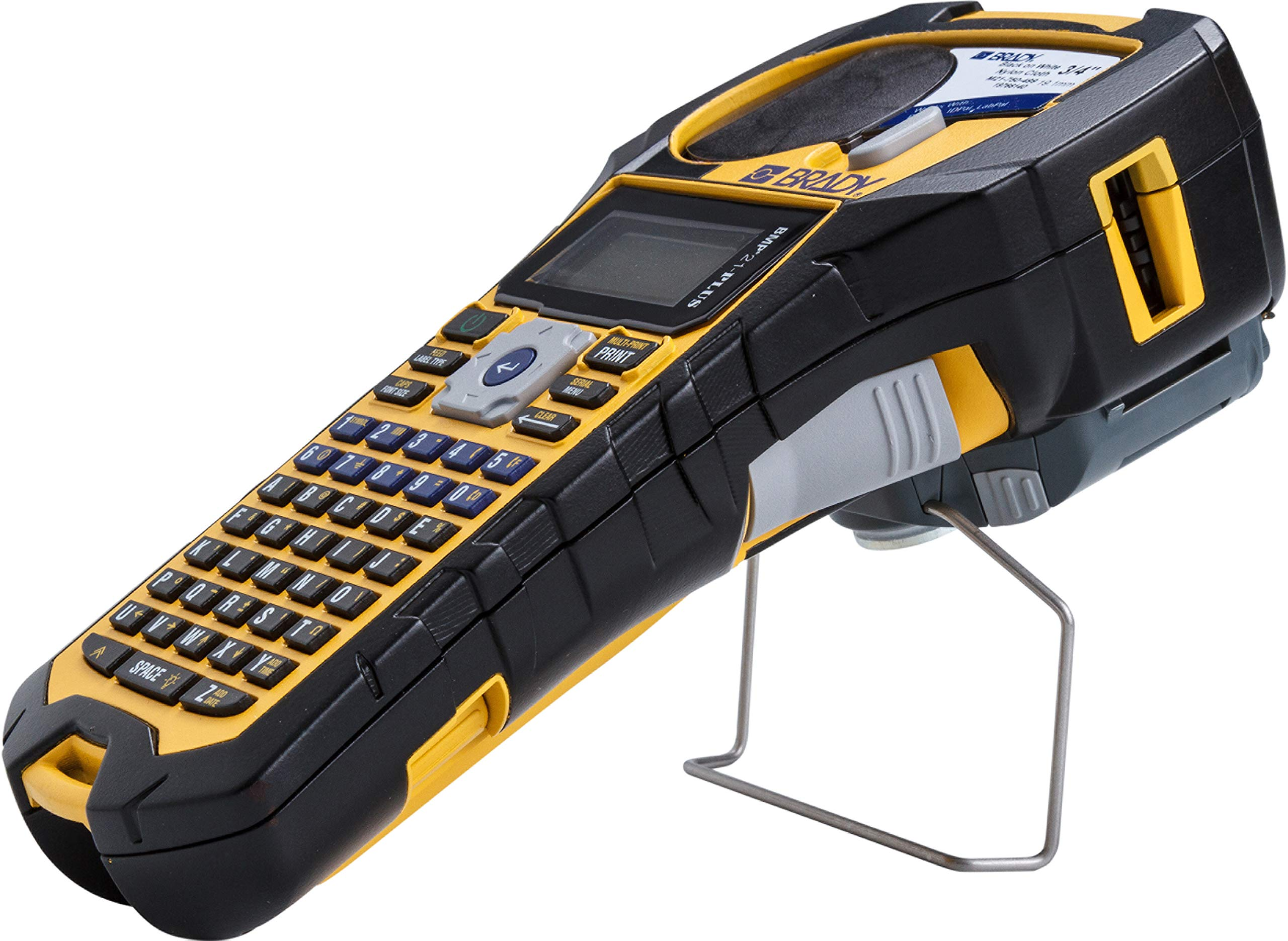 6 Brady BMP21-PLUS Handheld Label Printer with Rubber Bumpers Multi-Line Print