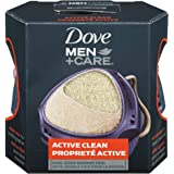 Dove Men+Care Active Clean Shower Tool Body Exfoliator for men Dual Sided for perfect lather 1 Pack of 4