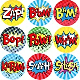 Superhero Perforated Roll Stickers 200Pcs for Kids Birthday Party Favor Classroom Supplies