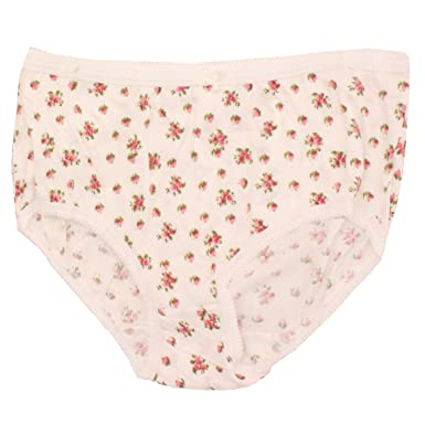 09ae885896d1bb 3 x Ladies Printed Floral Flower 100% Cotton Full Size Briefs Underwear  Mama: Amazon.co.uk: Clothing