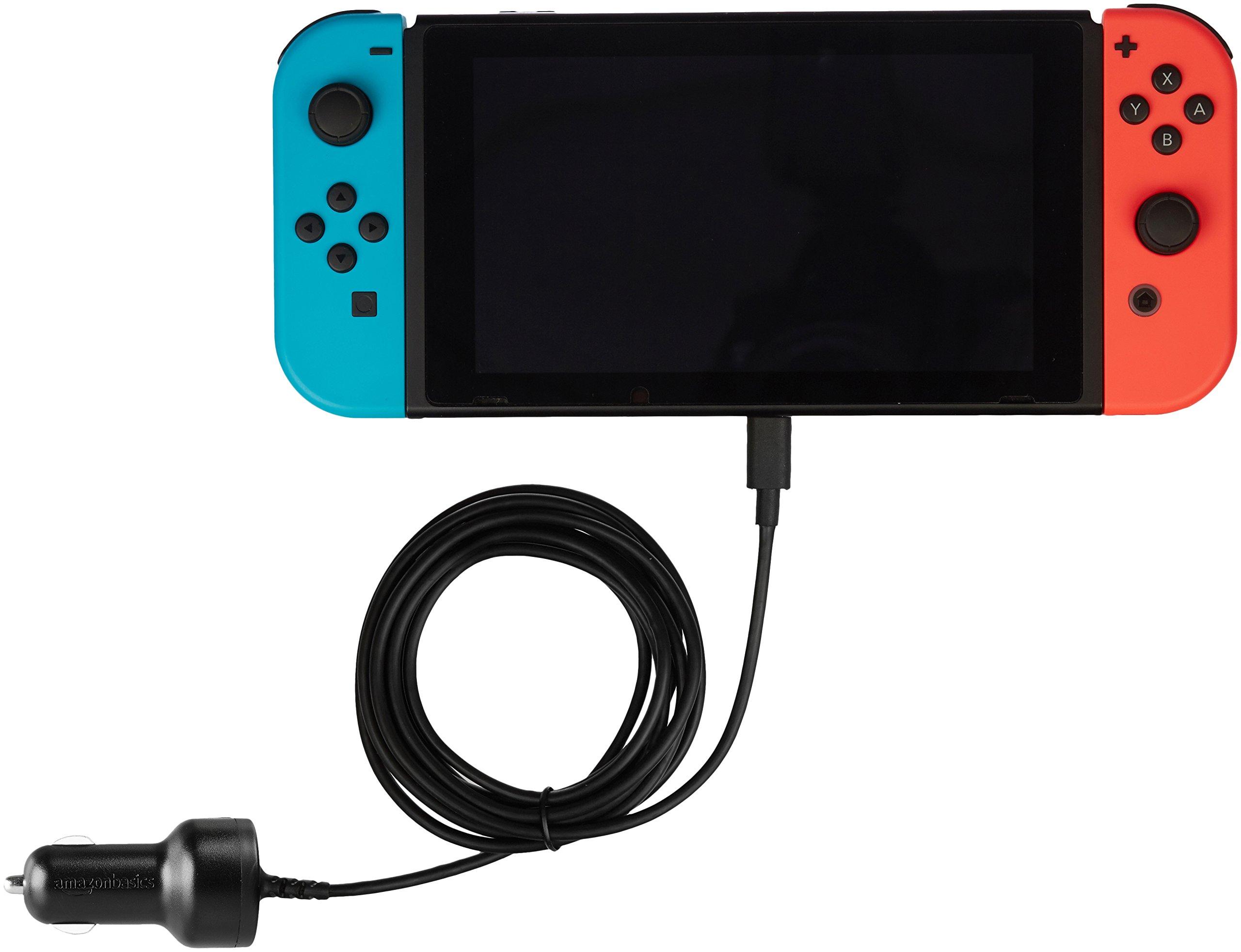 AmazonBasics Car Charger for Nintendo Switch