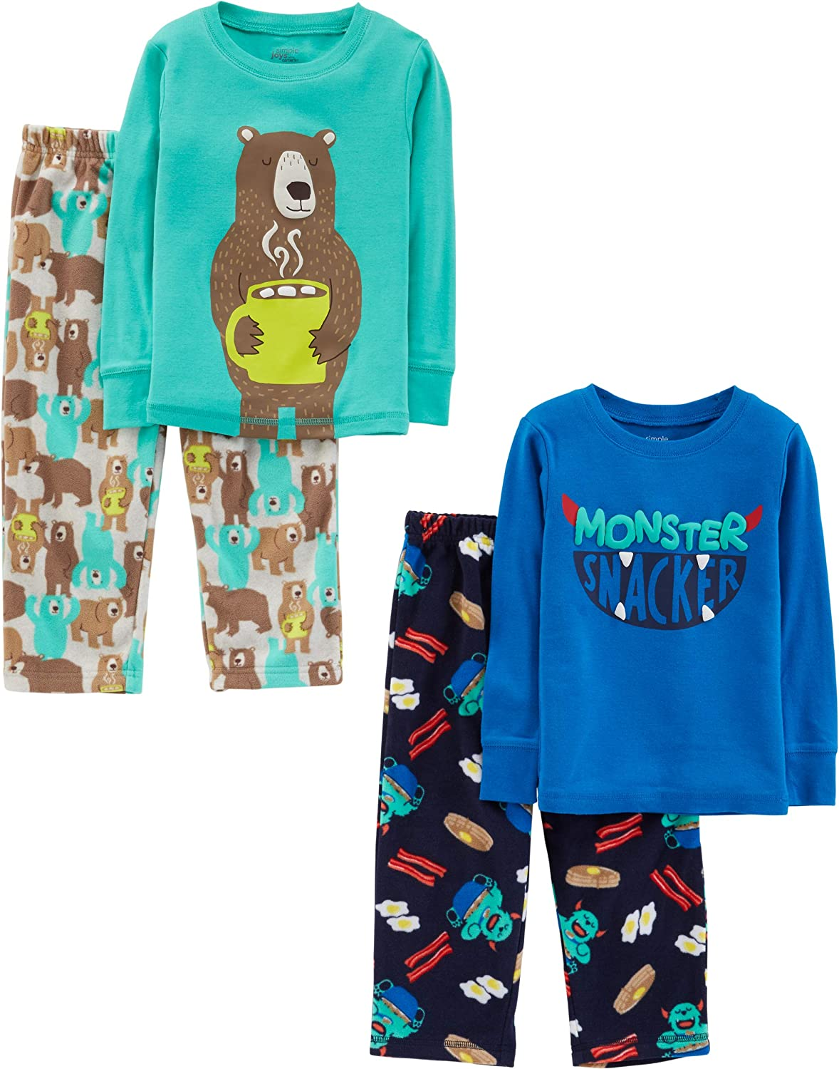 Simple Joys by Carters Little Kid and Toddler Boys 4-Piece Pajama Set