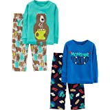 Simple Joys by Carter's Conjunto de Pijama de 4 Piezas (Parte Superior de algodón y Parte Inferior de vellón) Conjunto de Pij