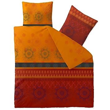 Celinatex Bettwäsche 3tlg 200x200 Baumwolle Set Kopfkissen Bettbezug
