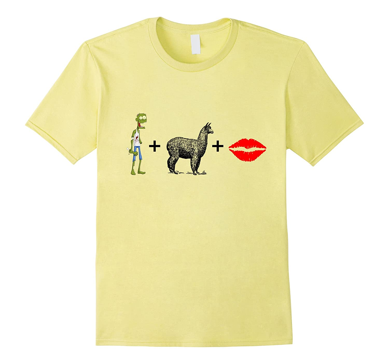 Zombie Apocalypse Alpaca Llama Lips Survival Birthday Shirt