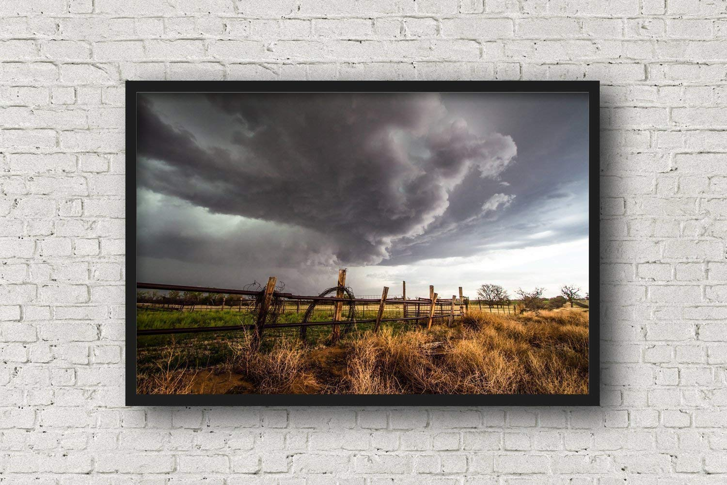 Amazon.com: Western Ranch Photography Art Print - Picture of Barbed ...
