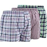 Pack of 6 Men's Woven Boxer Shorts, Loose Fit Cotton Underwear By Sockstack®