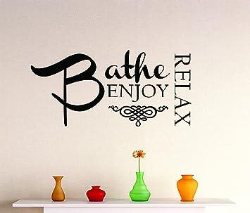 10-Inch By 20-Inch Black Design with Vinyl Design 219 Splish Splash Bathroom Bathtub Home Decor Vinyl Wall Decal Sticker