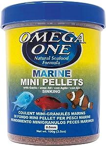 Omega One Garlic Marine Mini Pellets, Sinking, 3.5 oz