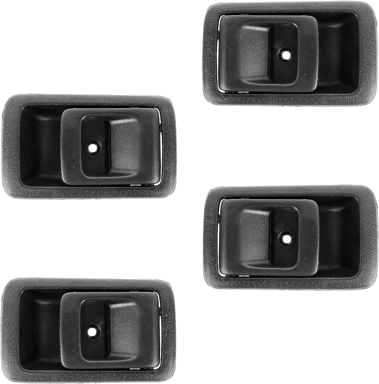 fits Toyota Inside Interior Door Handle LH RH Driver Passenger Side Black Set