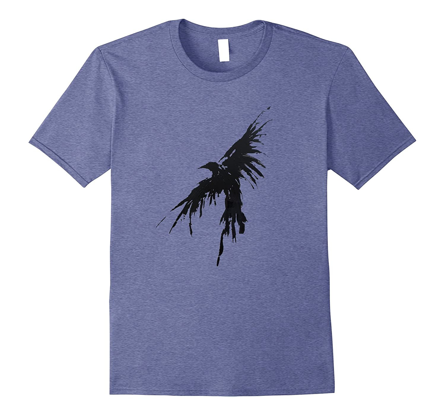 Crow Raven Shirt Distressed Flying Bird Crow Tee Shirt-AZP