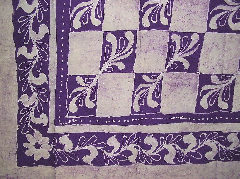 Homestead Patchwork Batik Tapestry Cotton Spread 108 x 88 Full-Queen Purple