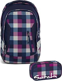 59d2845aa3d28 Satch Schulrucksack-Set 2-TLG Pack Berry Carry Lila  Amazon.de ...