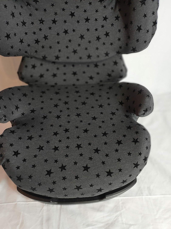 Silver Pallas Fix et Balles 2 Fix Noir Moon-Bebe Housse pour Cybex Pallas Black Stars