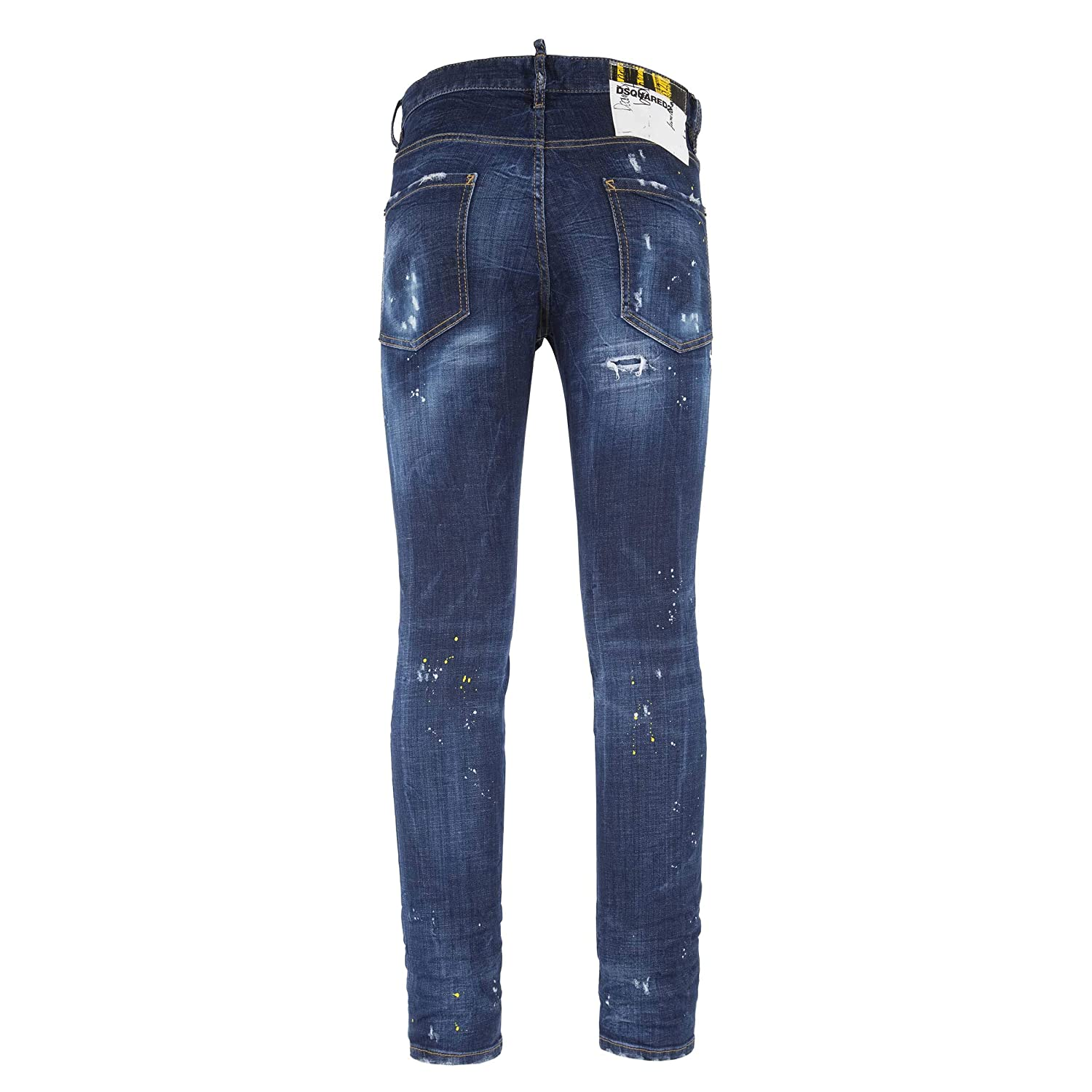 5bec5fc0904 Amazon.com: DSQUARED2 Men's Cool Guy Jeans in Yellow Ripped Spots Wash:  Clothing
