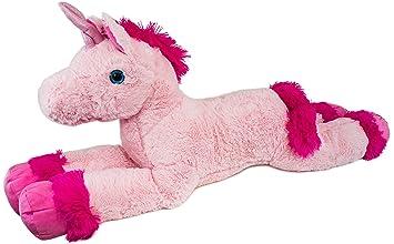 BRUBAKER Peluche gigante - Unicornio - Longitud 110 cm - Rosa