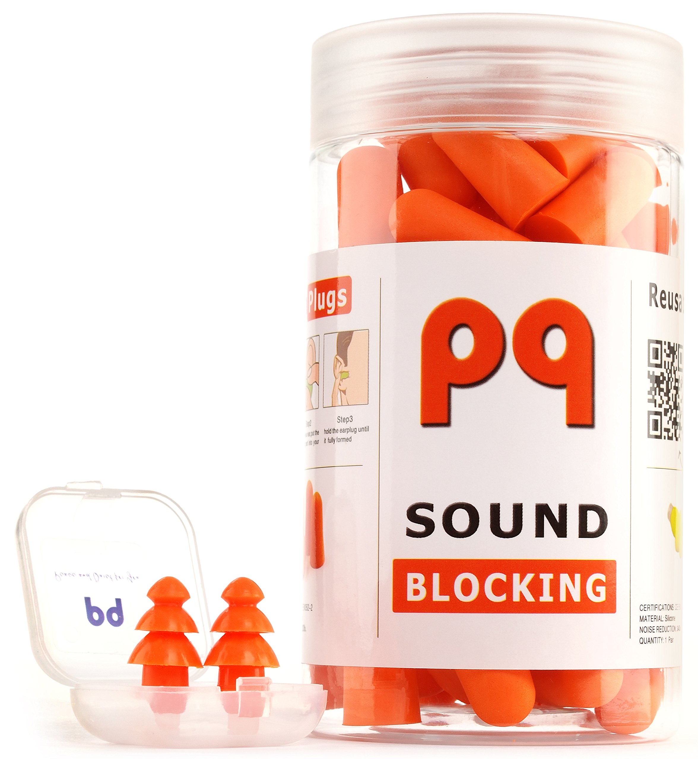PQ Earplugs to Sleep in - 36 Pairs for Healthy Sleep
