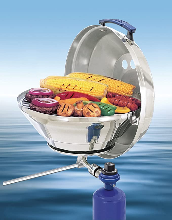 Magma Marine Kettle Gas Grill – The Boat Grill with Zero Blowouts