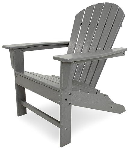 POLYWOOD SBA15GY South Beach Adirondack Chair, Slate Grey