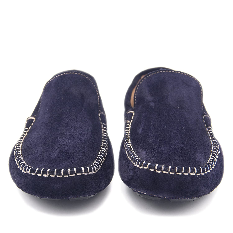 CASTELLANÍSIMOS Mocasines Azules de Piel en Marino Lisos de Hombre: Amazon.es: Zapatos y complementos