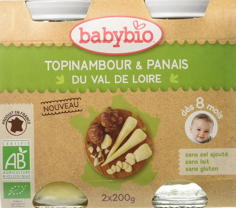 Babybio Pots Topinambour/Panais du Val de Loire 400 g - Lot de 6 51024 alimentation bébé diversification