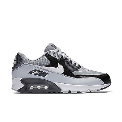 NIKE Herren Air Max 90 Essential Grau LederSynthetikTextil Sneaker 48,5