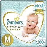 Fralda Pampers Premium Care 80 Unidades, M