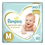 Fralda Pampers Premium Care 80 Unidades, M