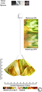 product image for Jezebel Signature JRWH-LP12-BUT-TRWH White Lily Track Light, Small, Buttercup