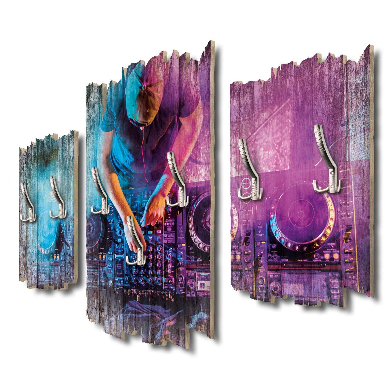 Kreative Feder DJ Designer Wandgarderobe Flurgarderobe Wandpaneele 95 x 60 cm aus MDF DTGH126