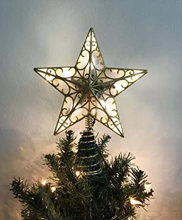 Kurt Adler Christmas Tree Lighted Star Tree Topper 11 Inch with Plug in  Chord with 5 - Amazon.com: Kurt Adler Christmas Tree Lighted Star Tree Topper 11