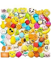 WATINC Random 30 Pcs Cream Scented Slow Rising Kawaii Simulation Lovely Toy Toy Medium Mini Soft Food Phone Straps