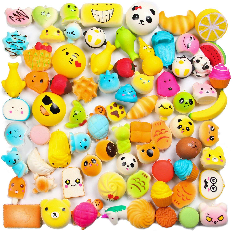 WATINC Random 30 pcs Squishies Cream Scented Slow Rising Kawaii Simulation Lovely Toy Medium Mini Soft Food squishies, Phone Straps (30P Donuts) by WATINC