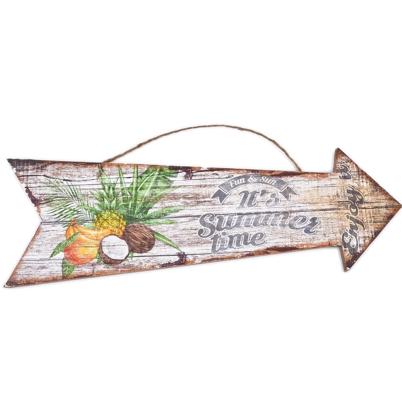 Dadeldo Living & Lifestyle Holzschild Summer Time Design MDF 10x30cm ...