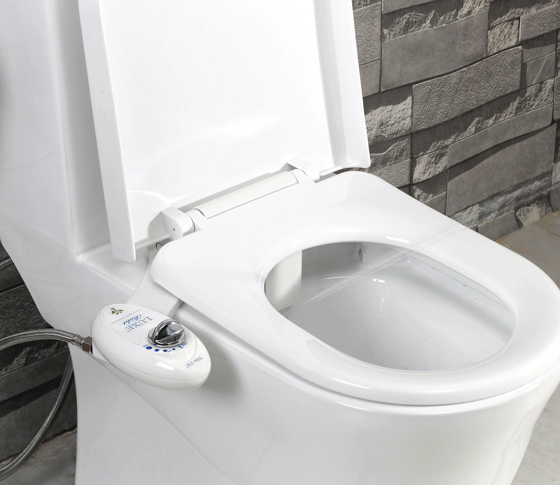 Luxe Bidet Neo 110 - Fresh Water Non-Electric Mechanical Bidet Toilet Seat Attachment (white and white) by LUXE Bidet (Image #2)