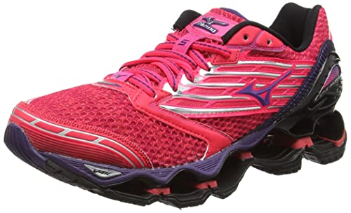 buy popular d323e 38098 Mizuno Women s s Wave Prophecy 5 Running Shoes Diva Pink Mulberry Purple Black,  5.5